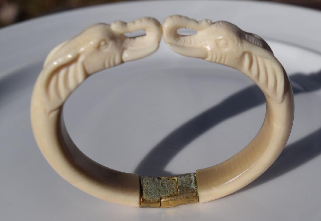 Carved Elephant Bracelet - 3