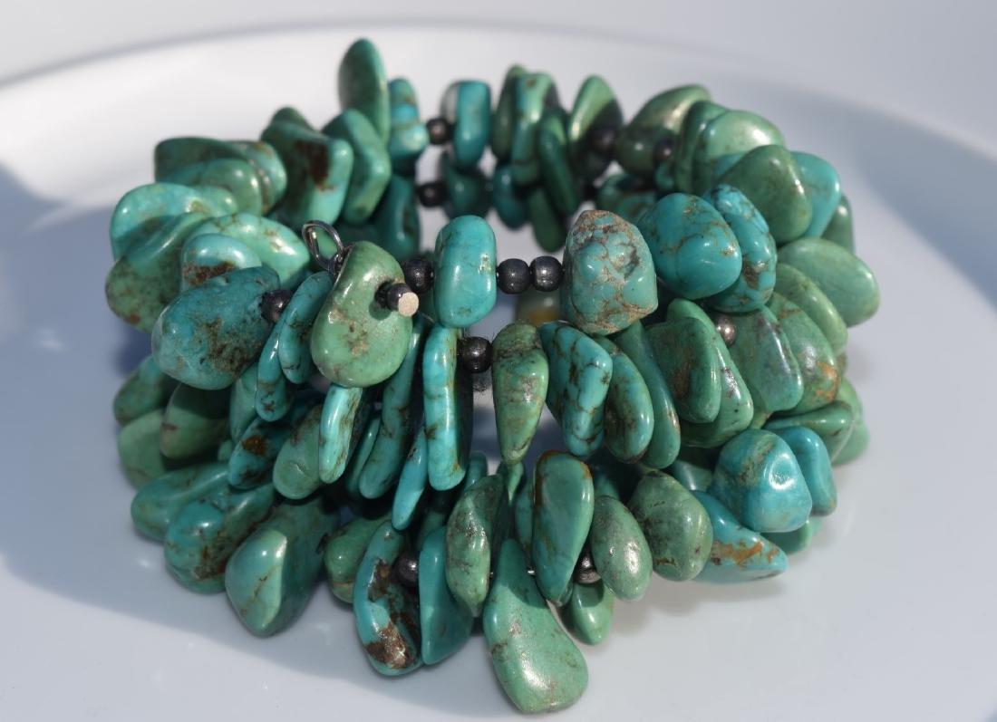Vintage Turquoise Bead Bracelet