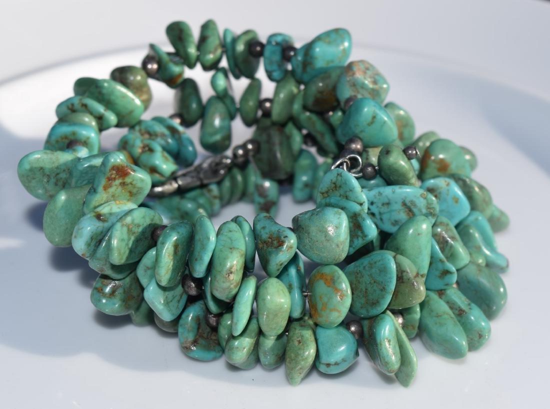 Vintage Turquoise Bead Bracelet - 2