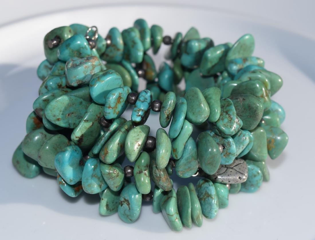 Vintage Turquoise Bead Bracelet - 3