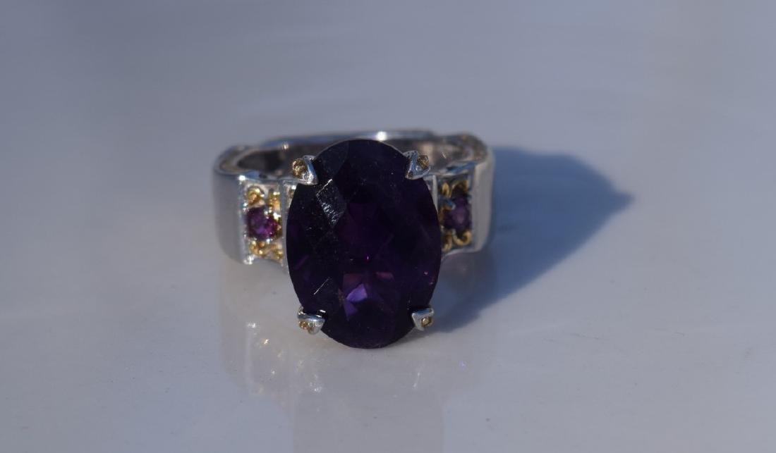 Vintage Huge Amethyst Ring