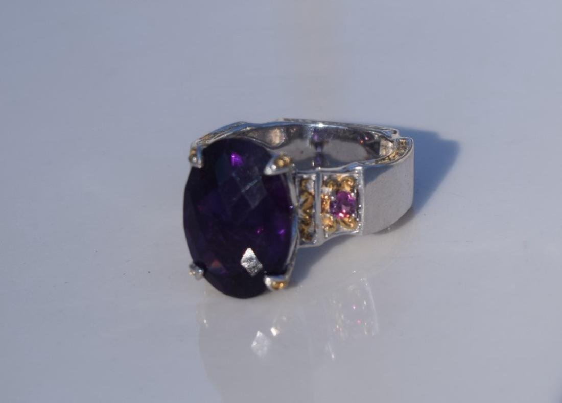 Vintage Huge Amethyst Ring - 2
