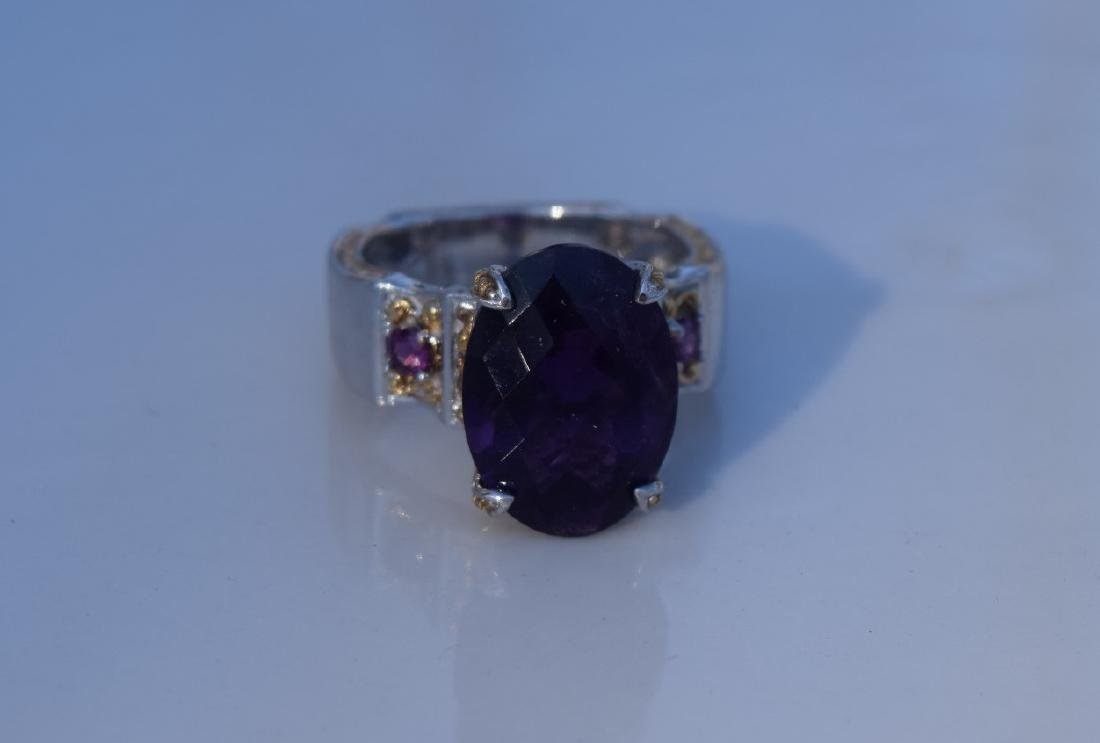 Vintage Huge Amethyst Ring - 3