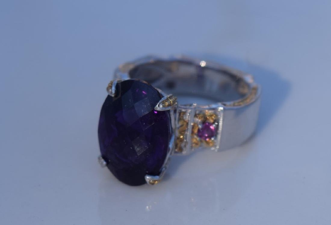 Vintage Huge Amethyst Ring - 4
