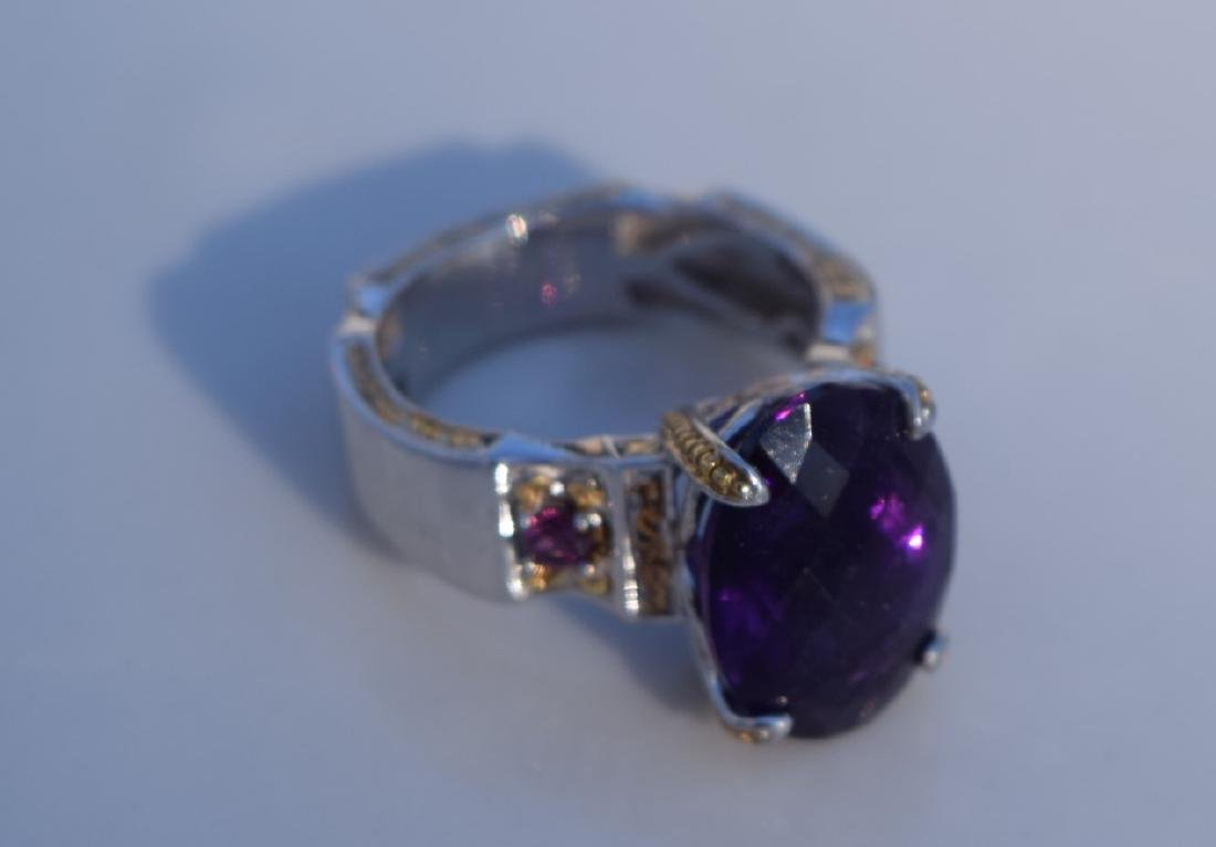 Vintage Huge Amethyst Ring - 5