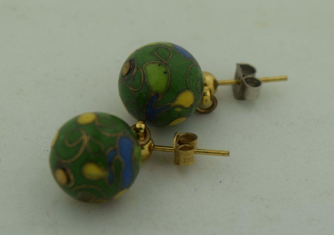 Pair of Cloisonne Earrings
