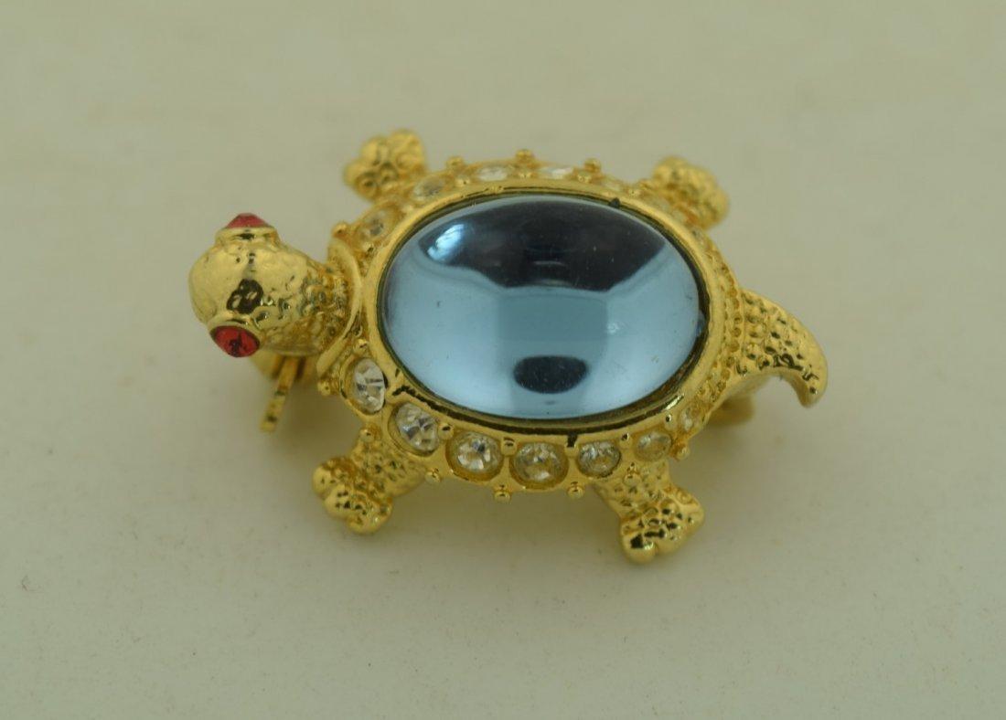 Vintage Turtle Brooch Pin