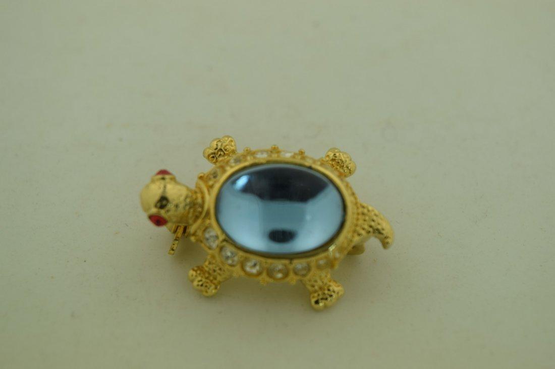 Vintage Turtle Brooch Pin - 2