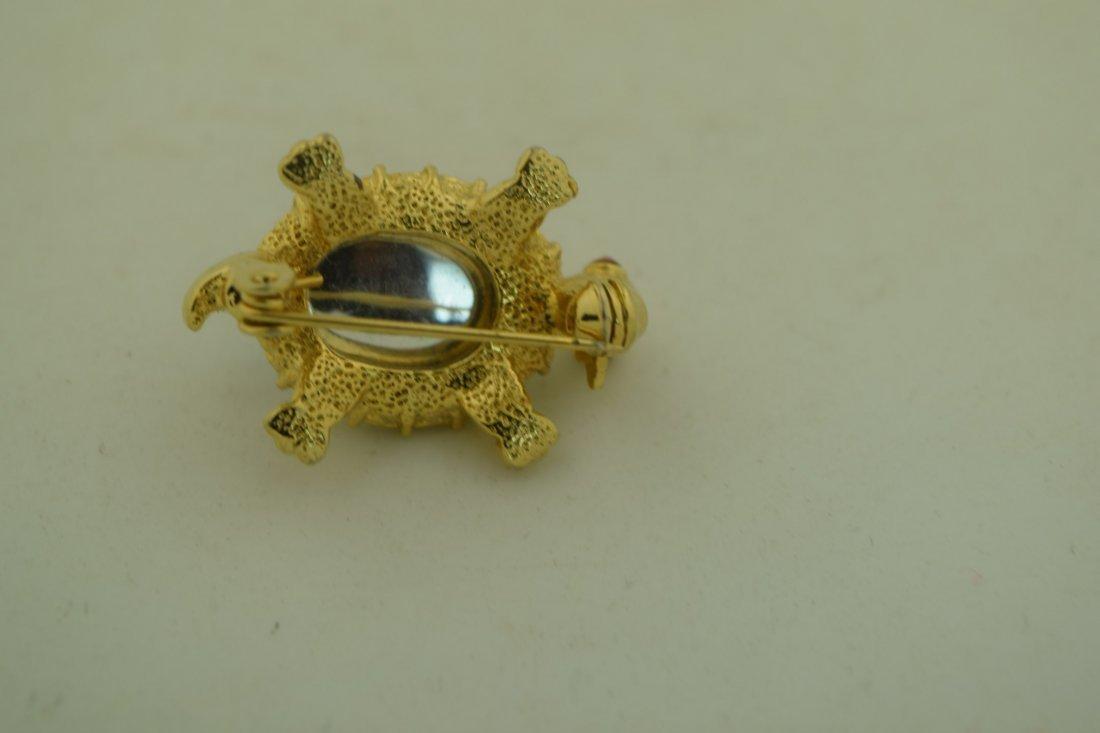 Vintage Turtle Brooch Pin - 3