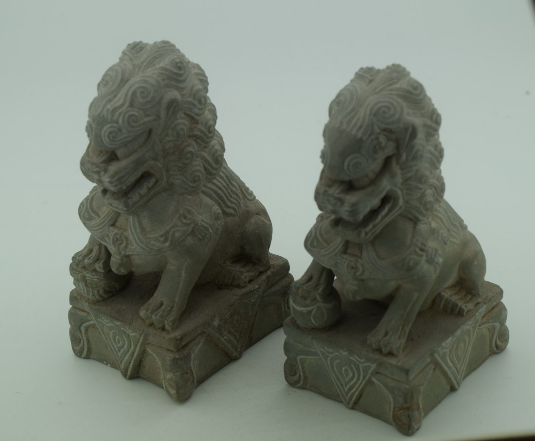 Pair of Lion Statues
