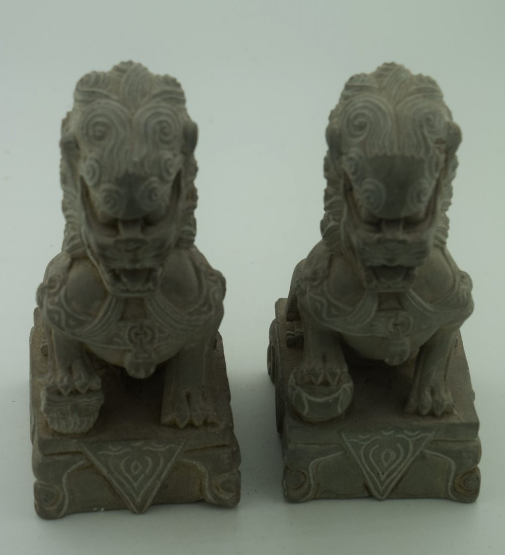 Pair of Lion Statues - 2