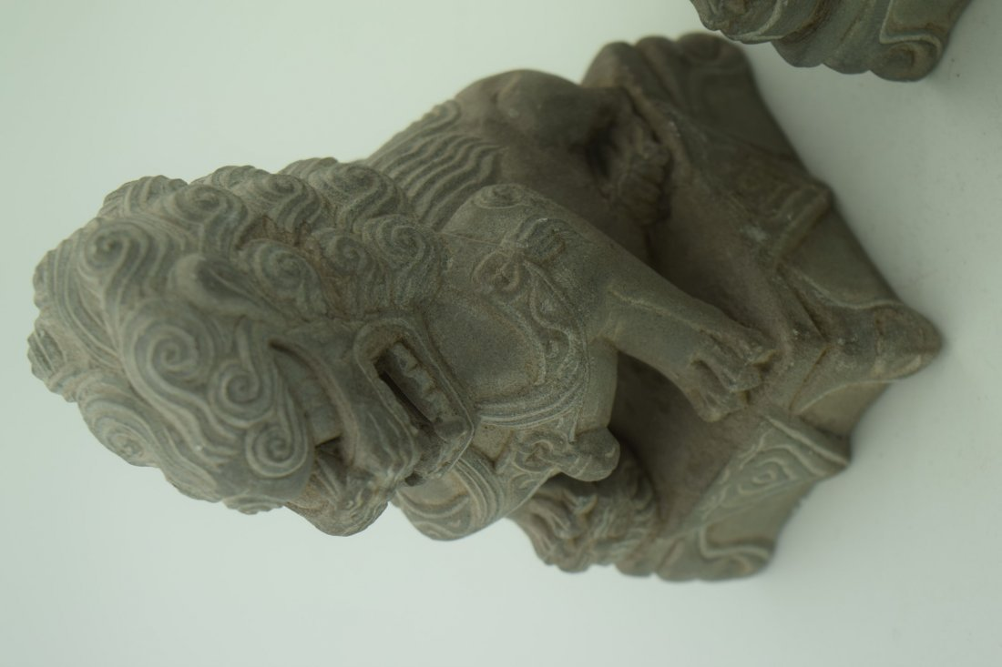 Pair of Lion Statues - 4