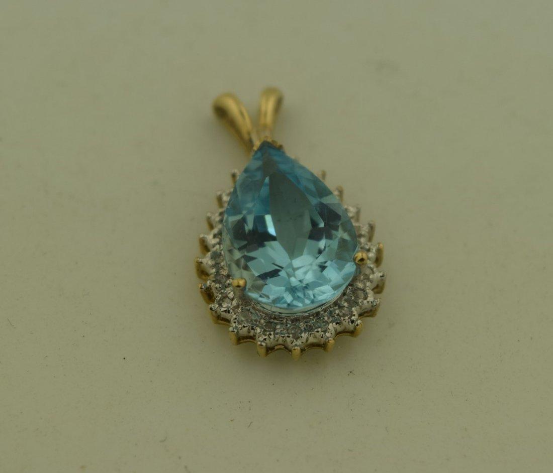 Vintage Blue Pendant