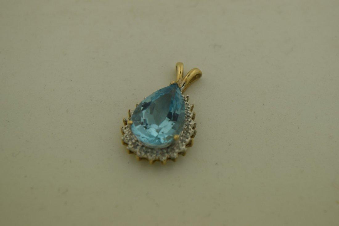 Vintage Blue Pendant - 3