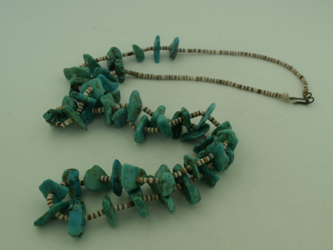 Vintage Turquoise Bead Necklace - 2