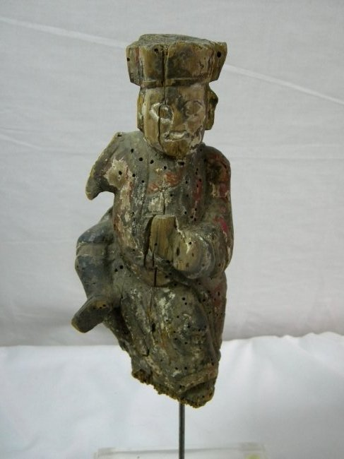 Antique Chinese Wood Carved Statue Ming Dynasty