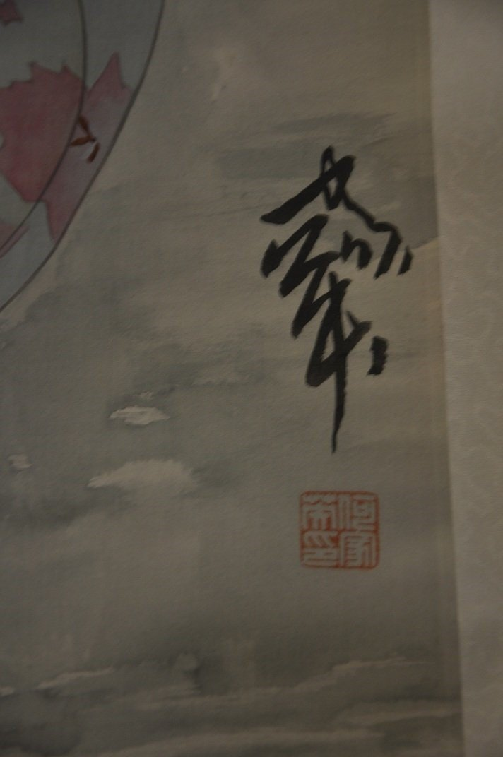 CHINESE SCROLL PAINTING BEAUTY SCENE BY JIAYING HE - 2