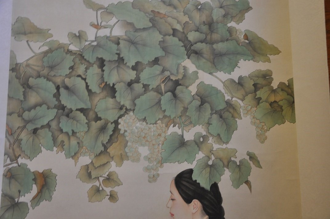 CHINESE SCROLL PAINTING BEAUTY SCENE BY JIAYING HE - 3