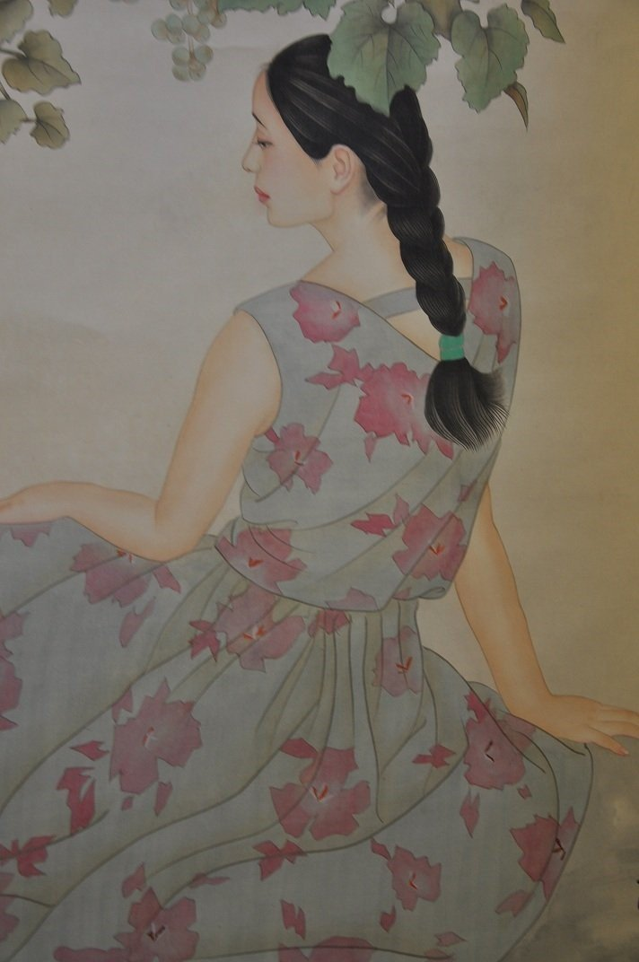CHINESE SCROLL PAINTING BEAUTY SCENE BY JIAYING HE - 6