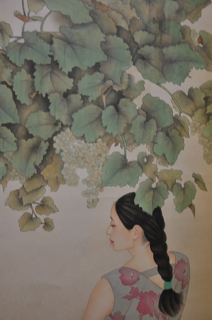 CHINESE SCROLL PAINTING BEAUTY SCENE BY JIAYING HE - 7