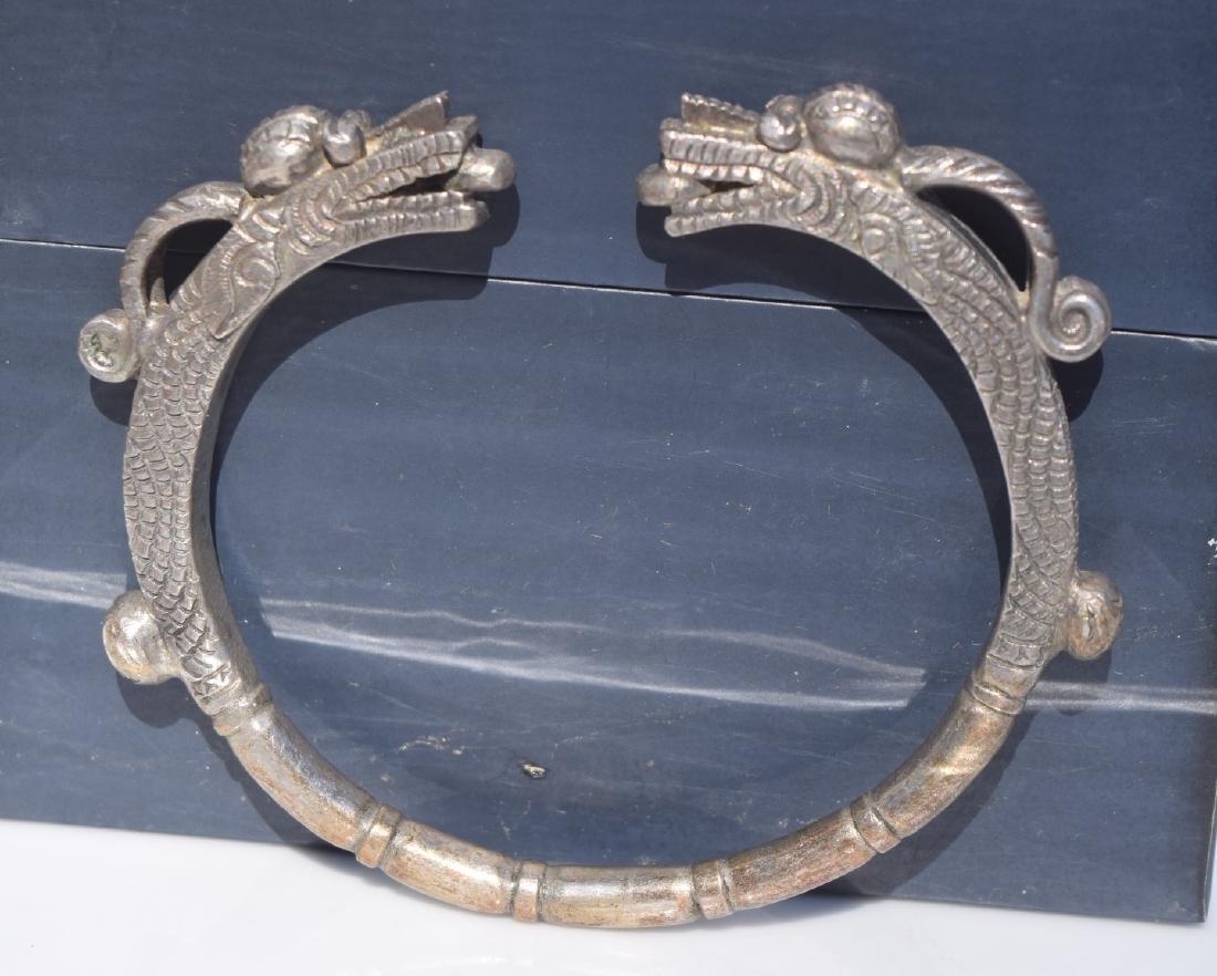 Antique Silver Dragon Bracelet - 3
