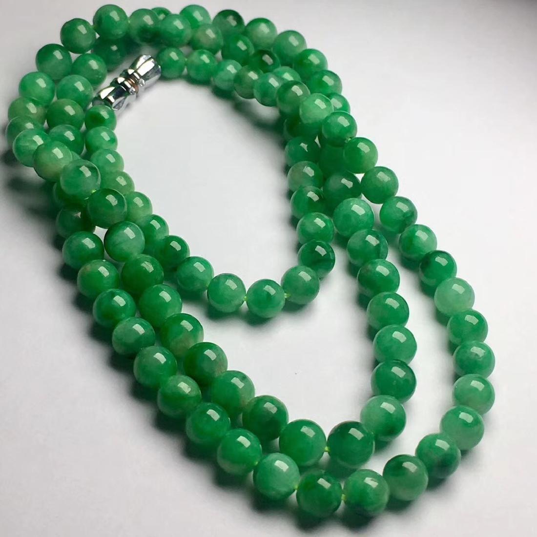 Natural Green Jadeite Necklace