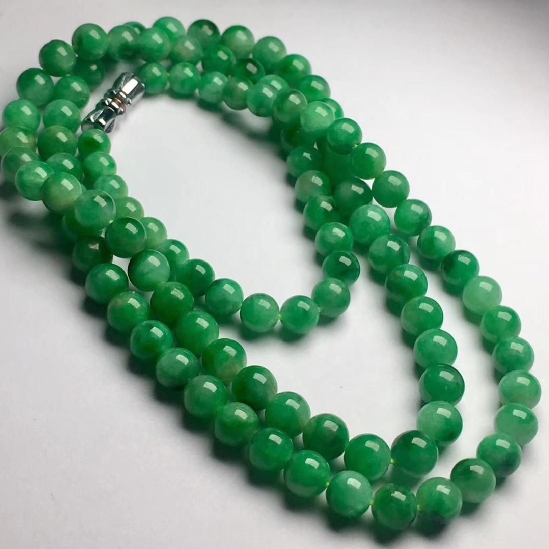 Natural Green Jadeite Necklace - 2