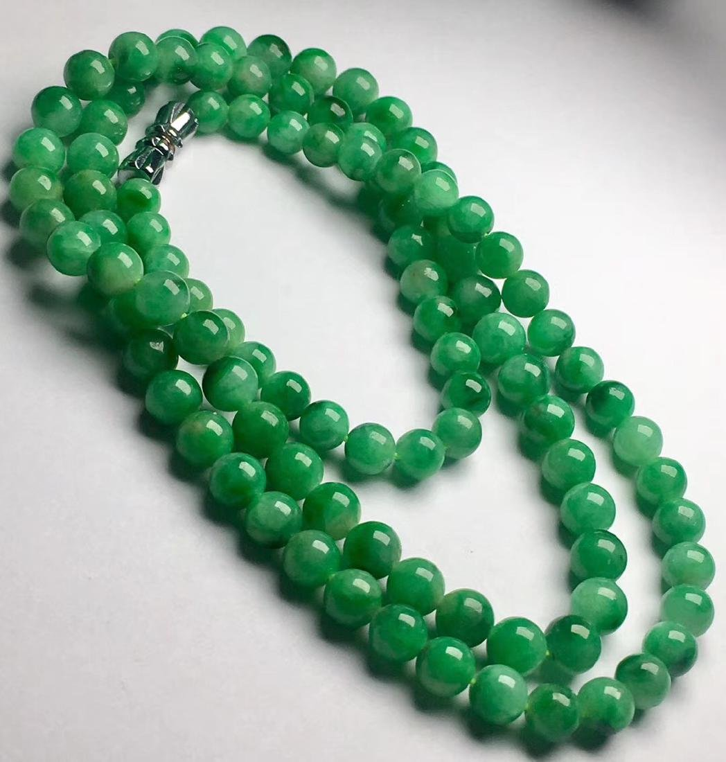 Natural Green Jadeite Necklace - 3