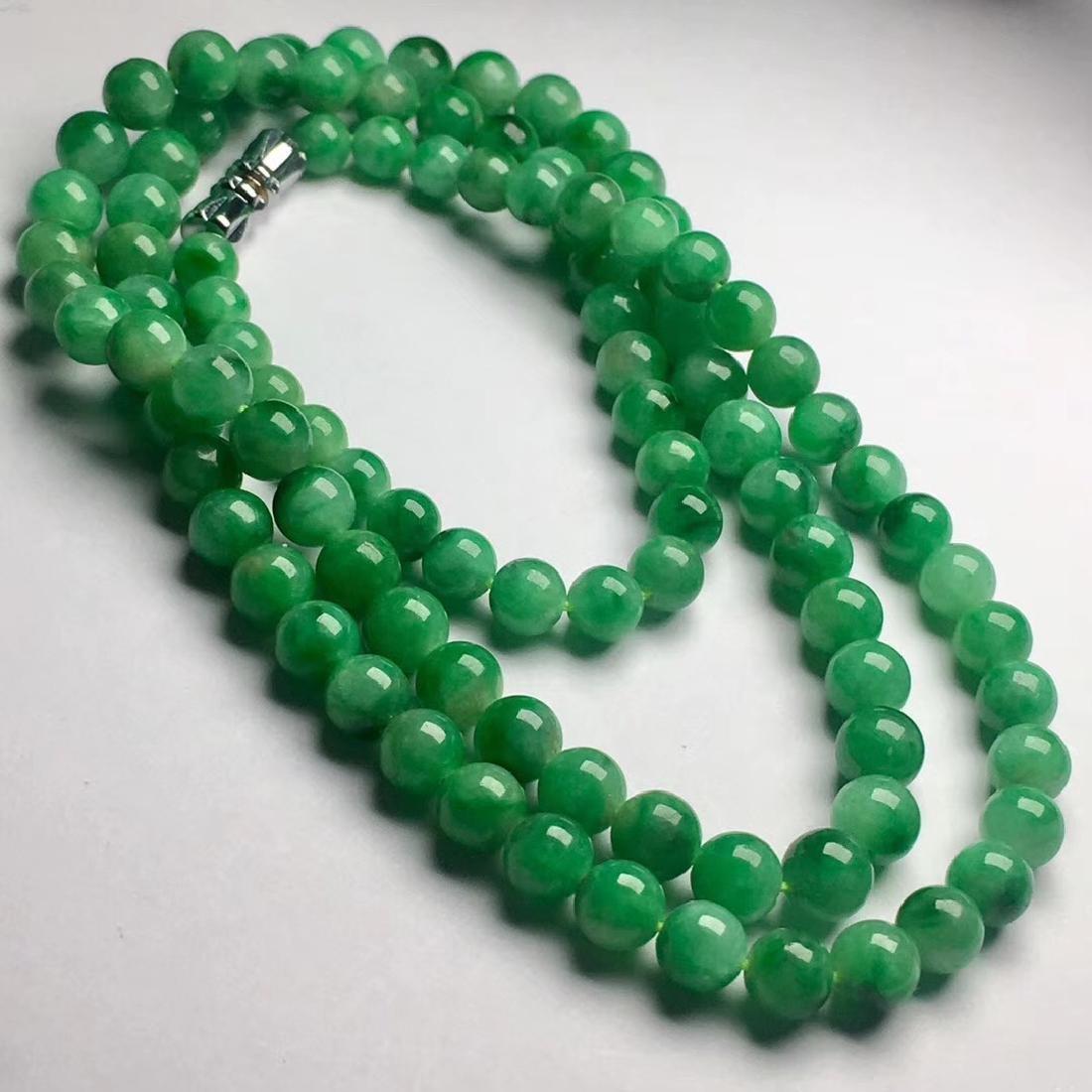 Natural Green Jadeite Necklace - 4