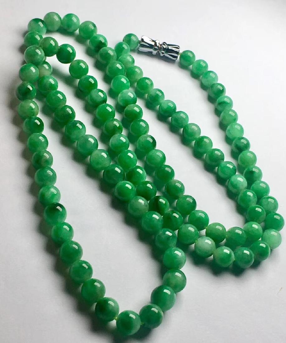 Natural Green Jadeite Necklace - 5