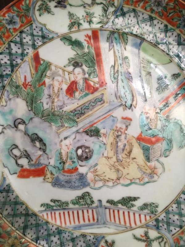 Antique Chinese Famille Rose Beauty Plate