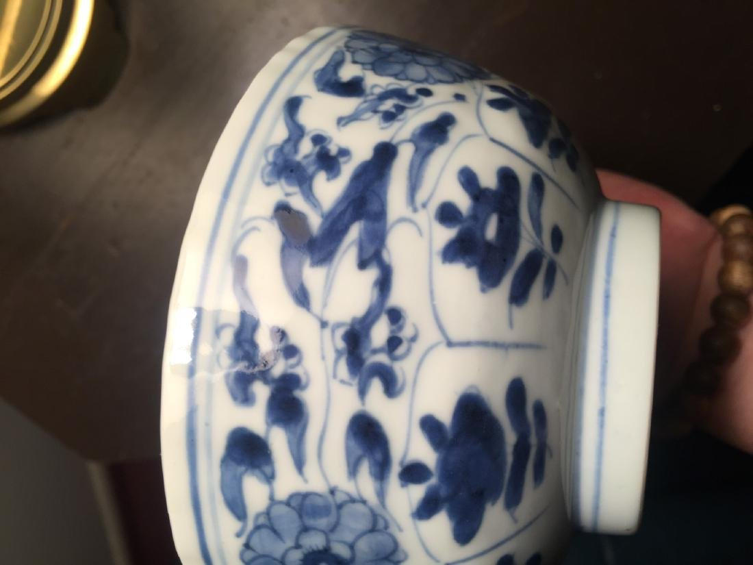 Antique Chinese Blue and White Bowl, Kangxi Period - 5