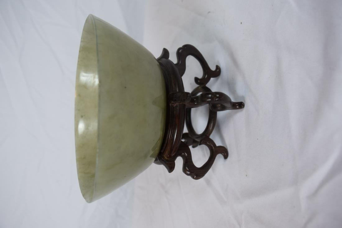 Antique Chinese Jadeite Bowl, Jia Qing Mark and Period - 2
