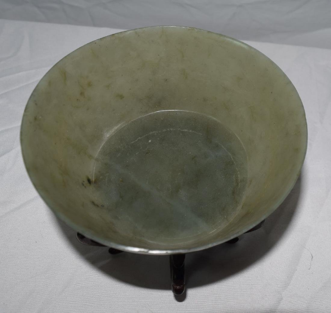 Antique Chinese Jadeite Bowl, Jia Qing Mark and Period - 3