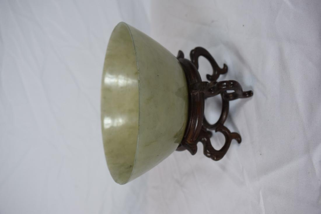Antique Chinese Jadeite Bowl, Jia Qing Mark and Period - 6