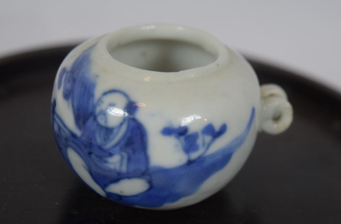 Antique Chinese Blue and White Bird Feeder, Qing