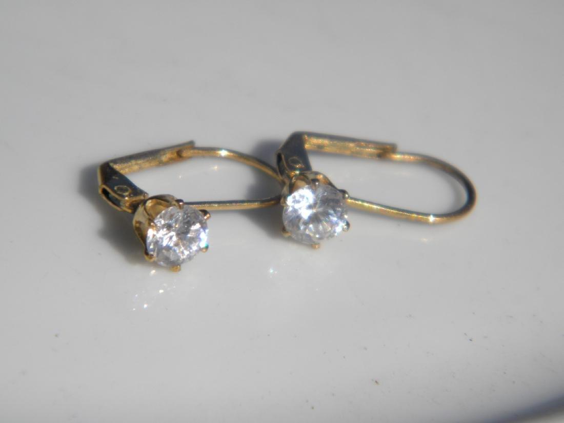 Pair of Diamond Earrings - 4