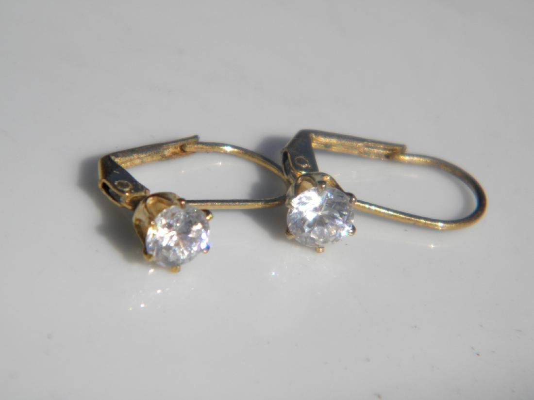 Pair of Diamond Earrings - 5