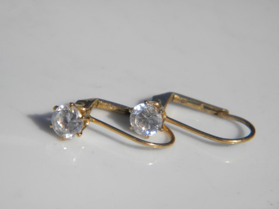 Pair of Diamond Earrings - 6