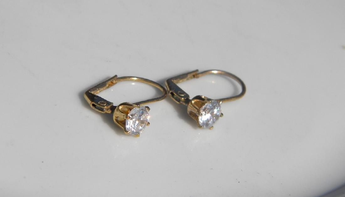 Pair of Diamond Earrings - 7