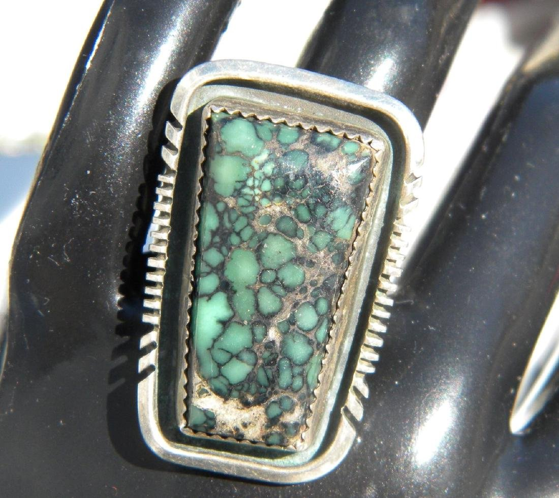Vintage Sterling Silver Turquoise Ring - 2