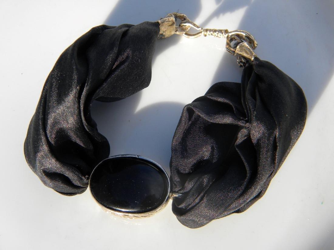 Vintage Black Agate Bracelet