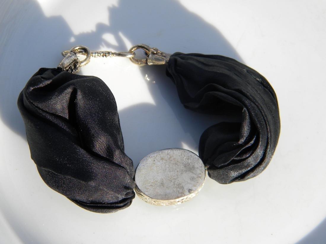 Vintage Black Agate Bracelet - 2