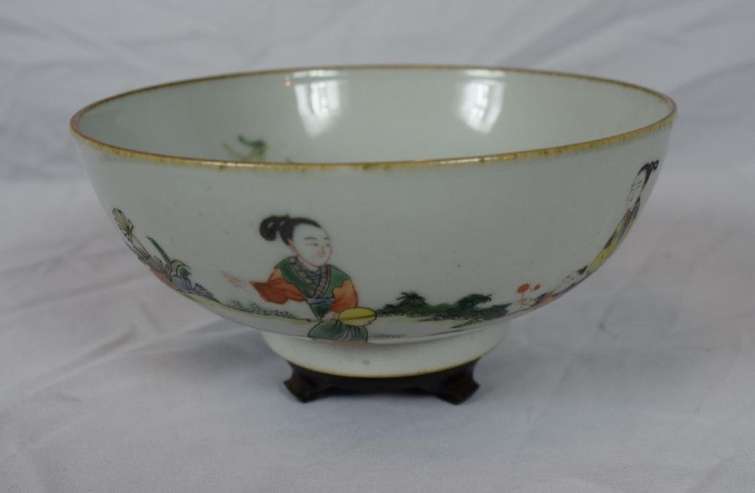 Antique Chinese Famille Rose Beauty Bowl