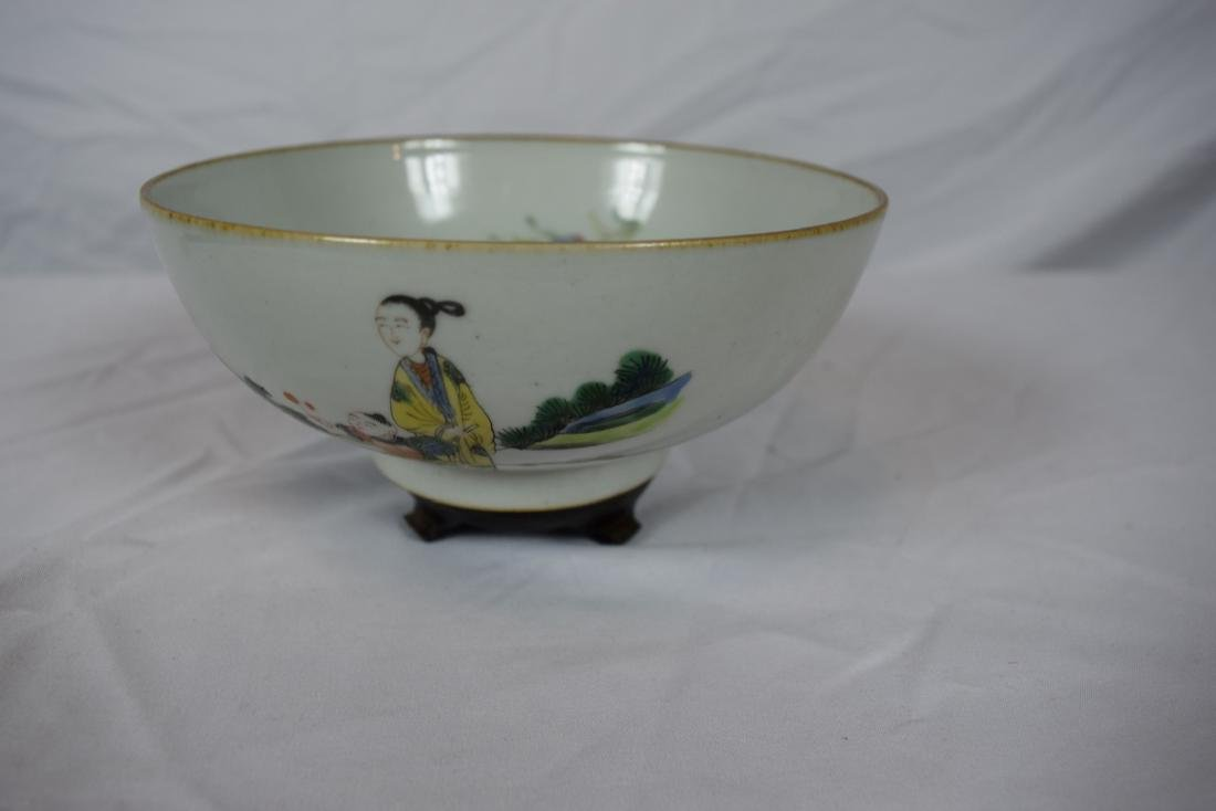 Antique Chinese Famille Rose Beauty Bowl - 2