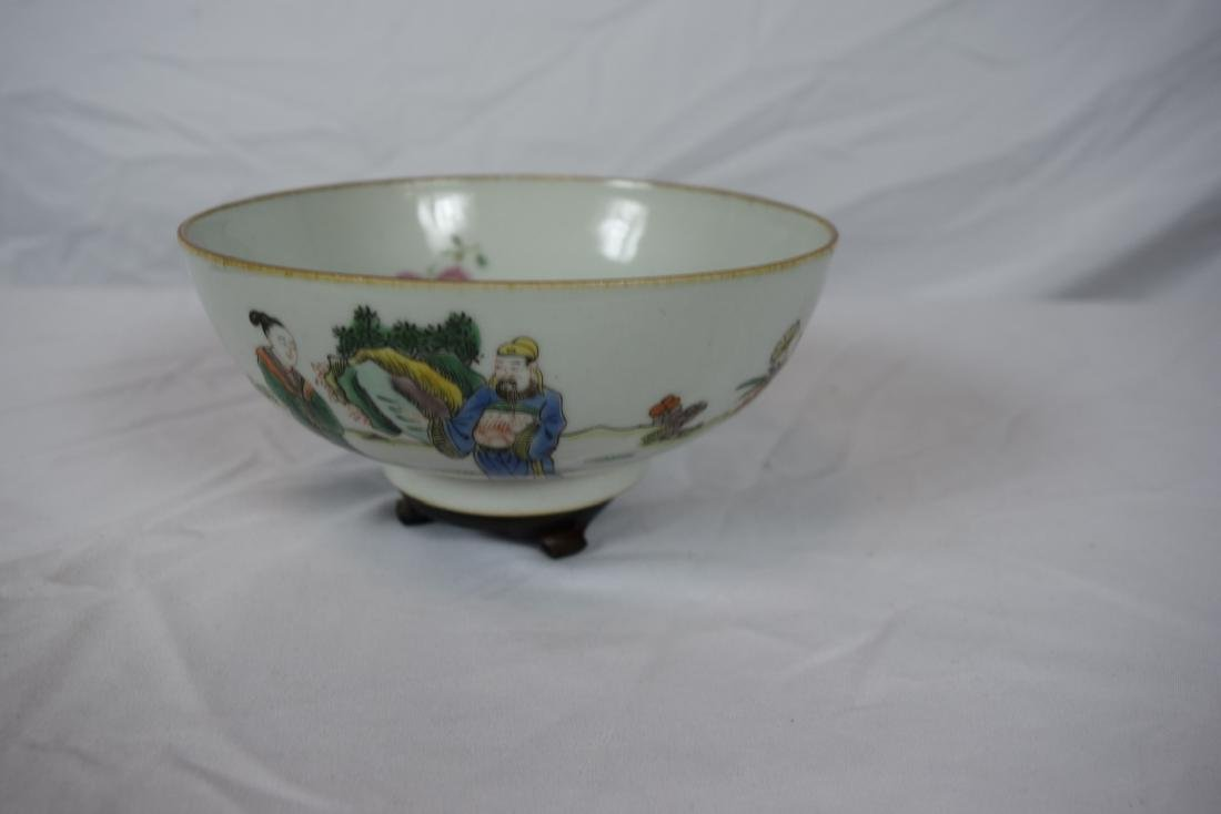 Antique Chinese Famille Rose Beauty Bowl - 3