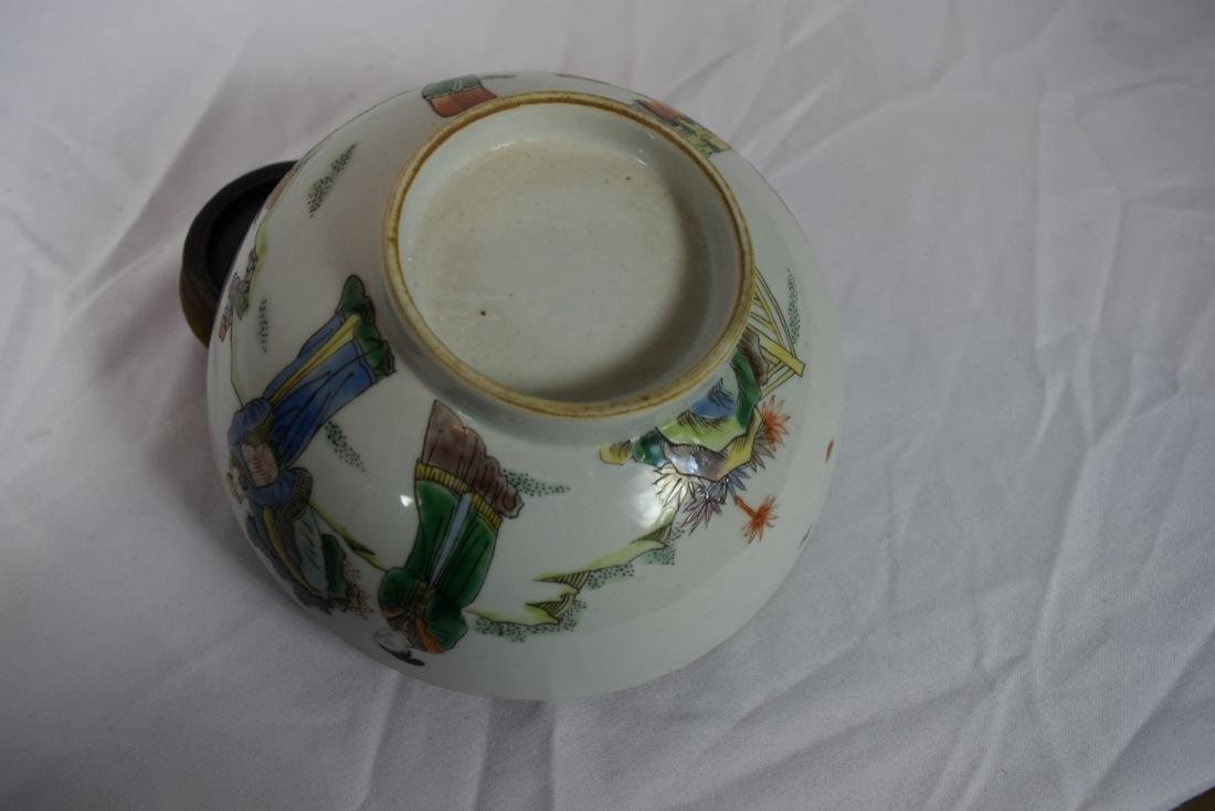 Antique Chinese Famille Rose Beauty Bowl - 5