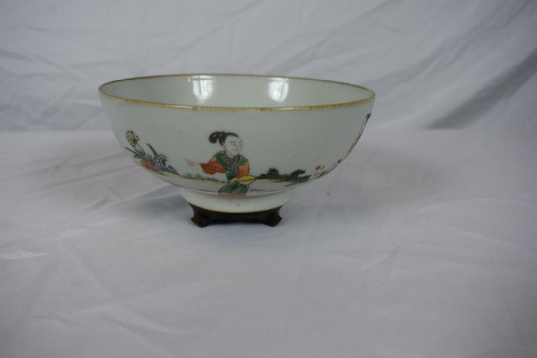Antique Chinese Famille Rose Beauty Bowl - 6