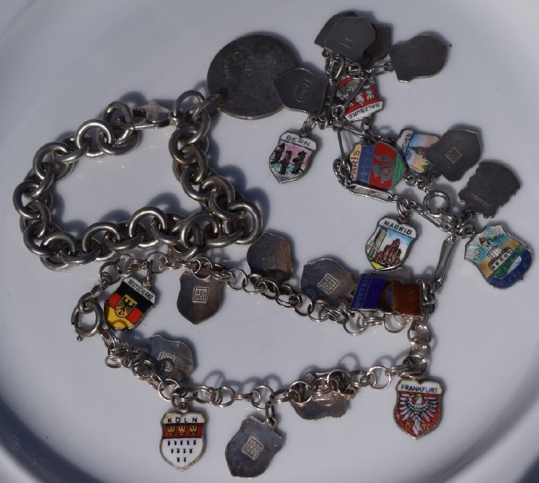 Three Sterling Silver Bracelets