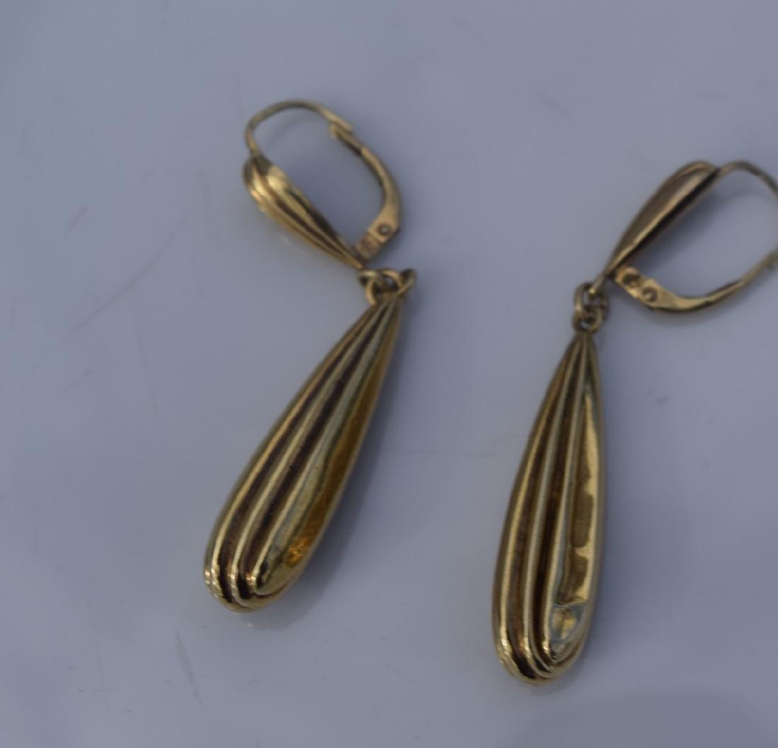 Pair of 14K Earrings - 3